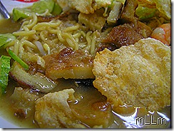 Close up bakmi