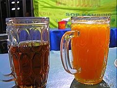 air jeruk dan teh tawar